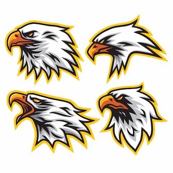 Eagle logo set premium vector design
