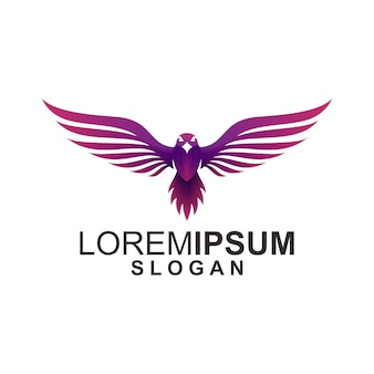 Eagle logo su bianco
