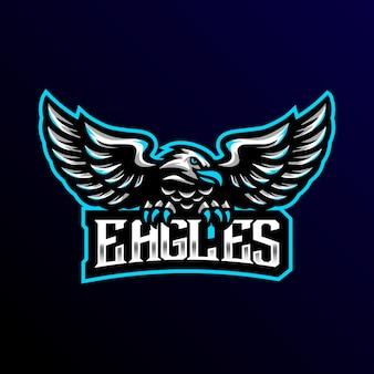Eagle mascot logo esport gaming