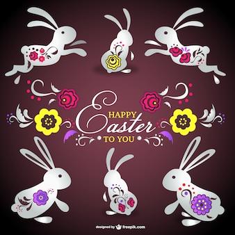 Easter card vettoriali gratis