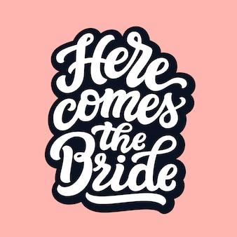 Ecco il testo della sposa