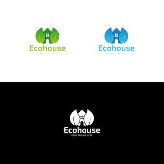 Eco house logo design