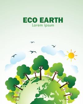 Eco terra verde