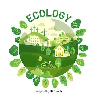 Eco villaggio che usa energie rinnovabili
