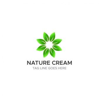 Ecologia di affari di concetto di logo della foglia della natura