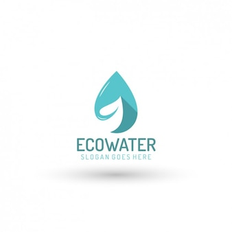 Ecologico water company logo template