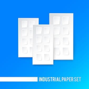 Edifici di carta bianca