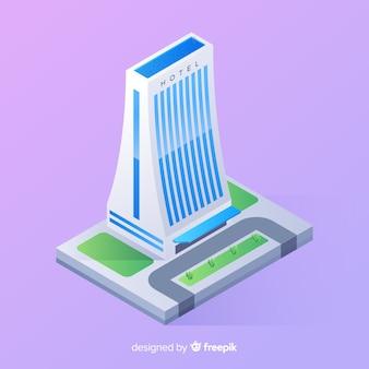 Edificio alberghiero isometrico