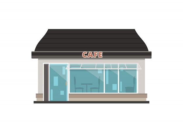 Edificio del negozio di caffè