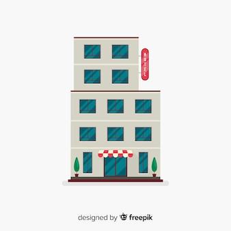 Edificio dell'hotel piatto