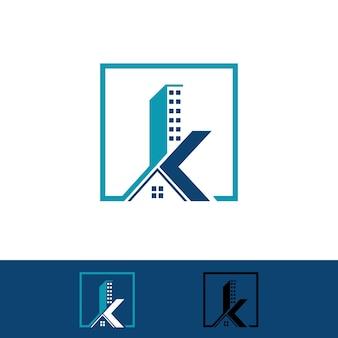 Edificio iniziale k, logo immobiliare