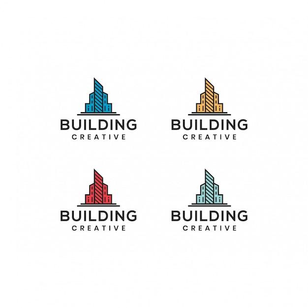 Edificio logo vettoriale modello
