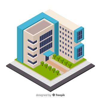 Edificio per uffici isometrico moderno