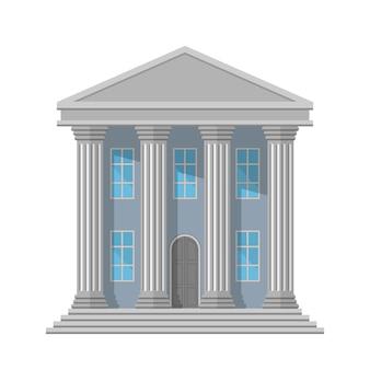 Edificio pubblico retrò con colonne