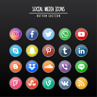 Edizione per pulsanti di social media