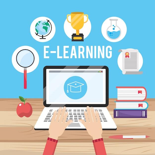 Educazione alla tecnologia portatile con conoscenza dei libri