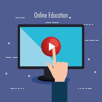 Educazione elettronica con computer desktop