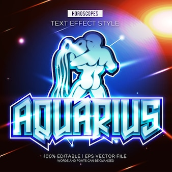 Effetti del testo zodiaco acquario
