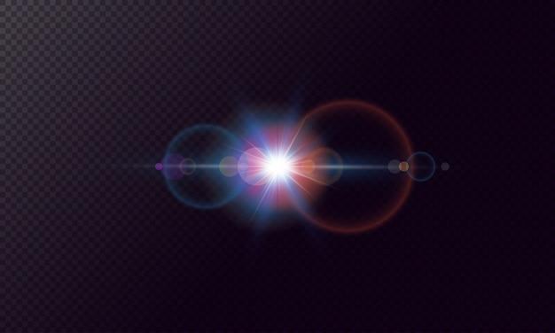Effetti di abbagliamento con bokeh, particelle glitterate