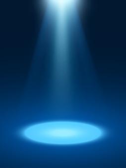 Effetti di luce astratti sfondo blu con faretti