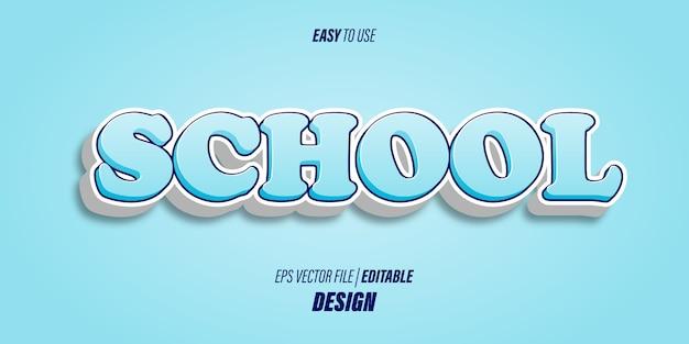 Effetti di testo 3d modificabili con caratteri audaci moderni e morbidi colori sfumati blu chiaro con temi divertenti e per bambini.