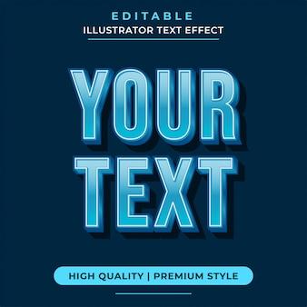 Effetti di testo modificabili blu moderni