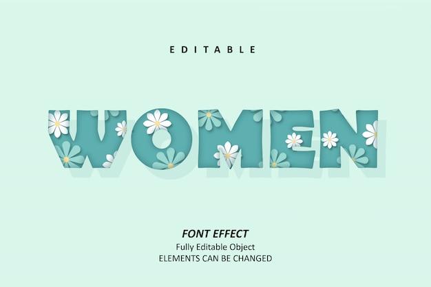 Effetti floreali di testo per donna premium