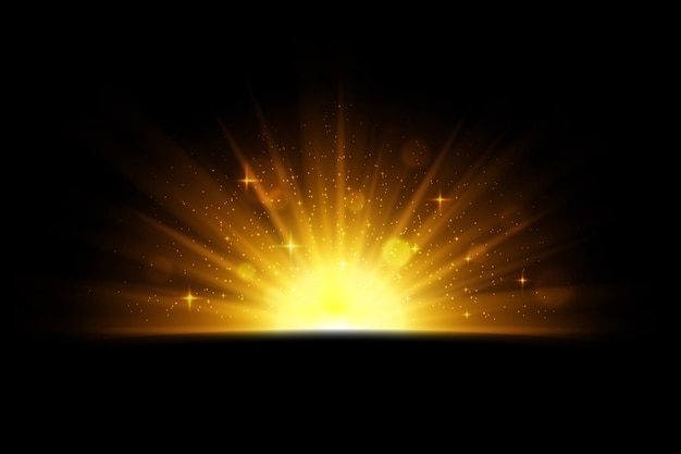 Effetto alba scintillante luminoso