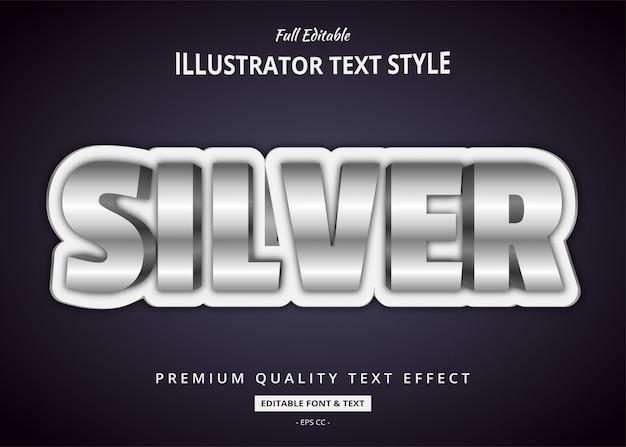 Effetto argento stile testo 3d