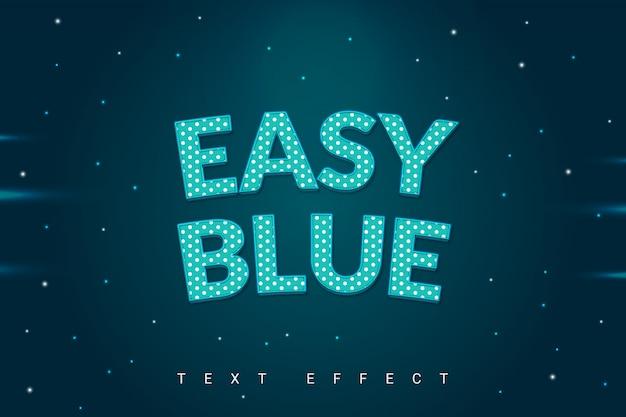 Effetto blu stile testo a pois