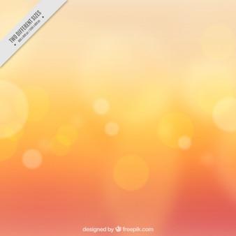 Effetto bokeh su sfondo arancione