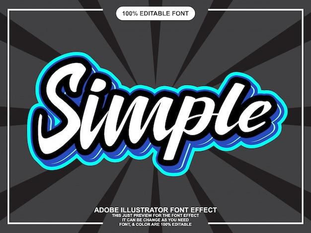 Effetto carattere adesivo moderno semplice script