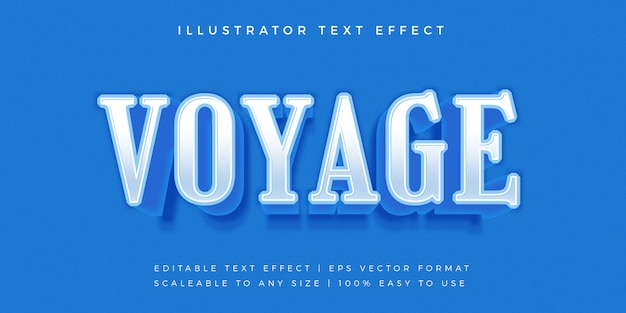 Effetto carattere blu elegante testo stile