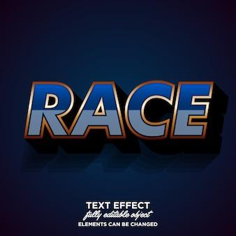 Effetto carattere moderno per l'adesivo del race club