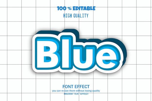 Effetto carattere modificabile blu