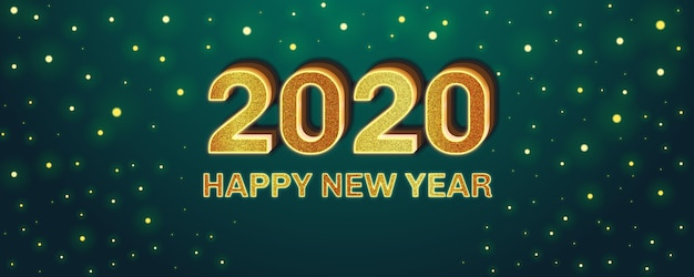 Effetto carattere modificabile di felice anno nuovo