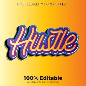 Effetto carattere modificabile in stile testo adesivo adesivo moderno