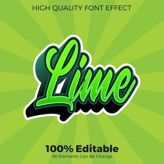 Effetto carattere modificabile in stile testo moderno verde script