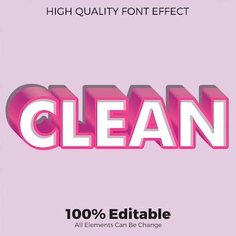 Effetto carattere modificabile moderno stile grassetto bianco pulito