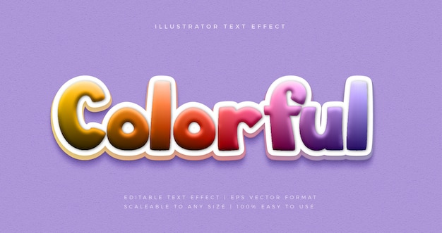 Effetto carattere stile testo giocoso festa colorata