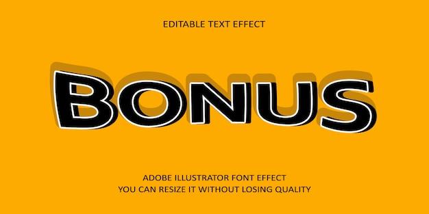 Effetto carattere testo bonus
