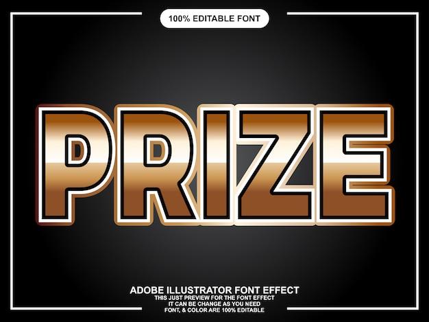 Effetto carattere tipografia modificabile grassetto moderno oro