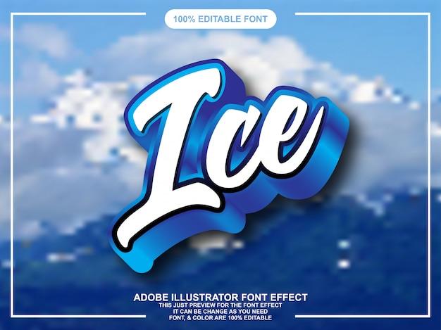 Effetto carattere tipografia modificabile moderno script blu
