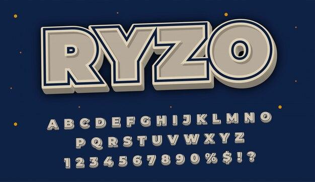 Effetto carattere vintage per design di intestazione o titolo, banner promozionale o poster