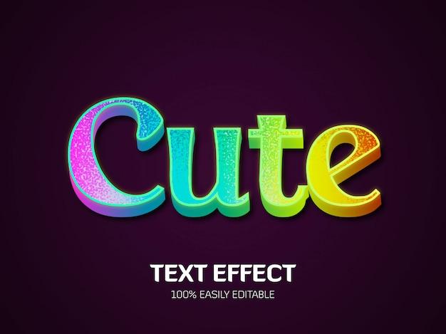 Effetto curte text. stile del font