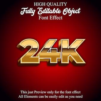 Effetto del carattere modificabile di stile del testo 3d 24k