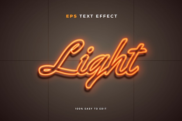 Effetto del testo del segno della parete della luce al neon