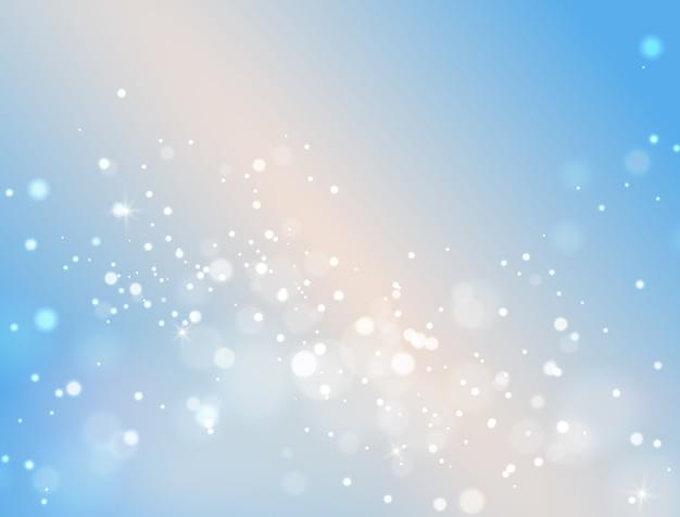 Effetto della luce di sfondo bokeh astratto blu.
