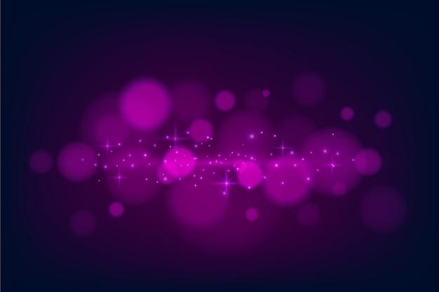 Effetto delle luci di bokeh sul concetto scuro della carta da parati