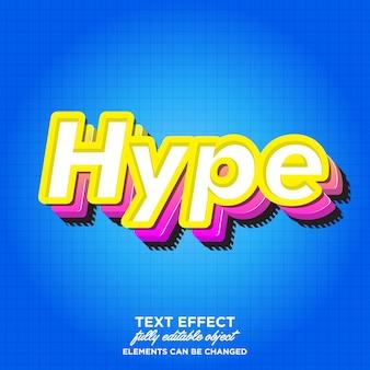 Effetto di carattere 3d hype moderno per adesivo